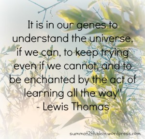 Lewis Thomas Quote on genes, understanding, and learning