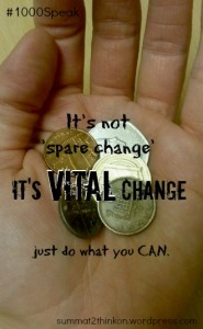 It's not 'spare change' it's VITAL change - summat2thinkon.wordpress.com