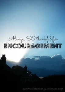 Thankful for Encouragement - summat2thinkon.wordpress.com