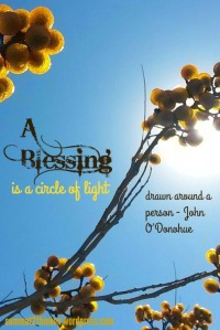 A blessing is a circle of light - summat2thinkon.wordpress.com