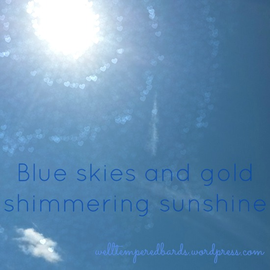 Blue skies and gold shimmering sunshine